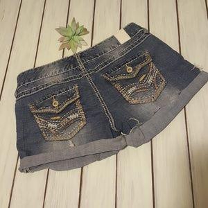 Maurice's shorts cutoff cuffed embellished 5/6